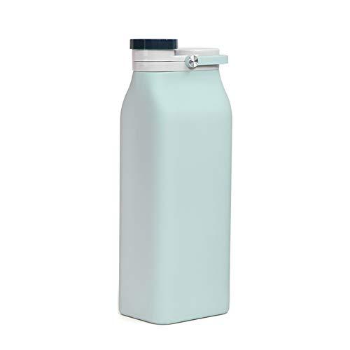 Bouteille d'eau Enticerowts 400/600 ml en silicone pliable, pliable, étanche, multifonction et réutilisable. 400 ml bleu