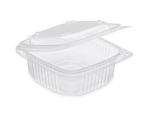 50 Vaschette Contenitori Riutilizzabili e Lavabili in lavastoviglie Uso Cibo caldo o freddo e MICROONDE (congelamento a -20 gradi) (1000cc new)