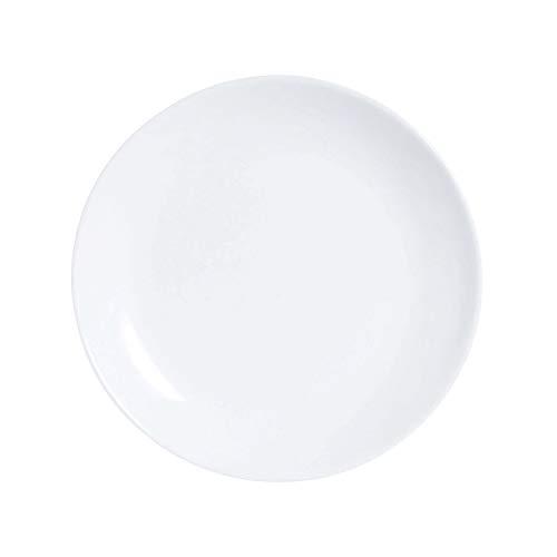 Luminarc Diwali Set 6 Platos Postre de Vidrio Opal Extra Resistente 19cm, Blanco