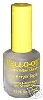 Blue Cross Yello Out Clear Acrylic Nail Polish Top Coat 0.5oz B6003791