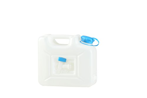 Hünersdorff Bidón para agua PROFI 12l, PEAD Natural, con protección UV