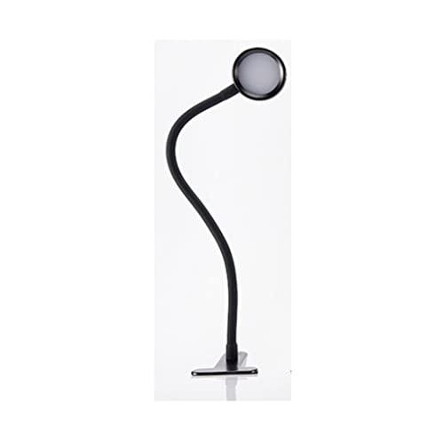 bjyx Lámpara de Escritorio de la Pantalla de protección de Ojos ABS Lámpara de Clip de la lámpara del Anillo Redondo Dimmable, Adecuado for Estudiantes(Tamaño: 6. 1 * 40 cm) (Color : Black)