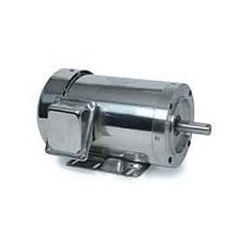 Leeson Motors 3-Phase Washguard Duty Motor 1HP, 1200RPM, 145TC, TEFC, 230/460V, 60HZ, Rigid C