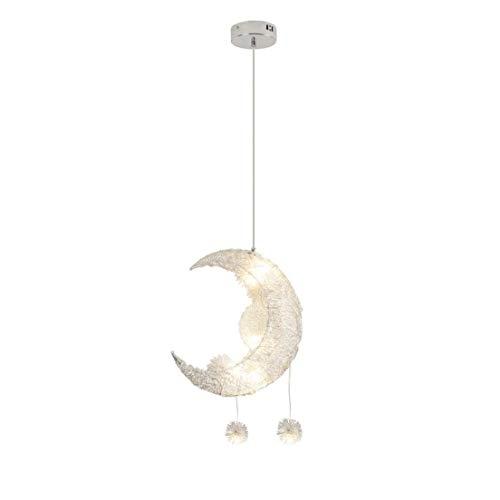 DDJJZHXYP Lámpara de araña creativa Luna Dormitorio Luces Moderna Iluminación Alta Simple Adecuado para Dormitorio/Habitación de los Niños/Baño/Cocina/Salón/Café/Bar/Restaurante