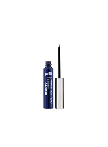 P2 Beauty Insider liquid eyeliner waterproof Nr. 010 full action black Inhalt: 1ml Liquid Eyeliner für einen perfekten Lidstrich mit Profipinsel Eyeliner