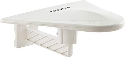 Telestar 5102220 ANTENNA 10 aktive Aussenantenne (DVB-T/DVB-T2, FullHD, Verstärkung: 51 dB, LTE Filter) weiss