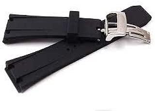 ODES 28mm x 18mm Black, AFTERMARKET Rubber Watch Band Strap FIT Audemar s Piguet Royal Oak Offshore 42MM Watch