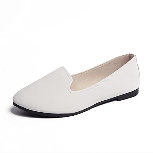 QAZW Zapatos Planos de Ballet para Mujer, Zapatos de Vestir con Punta...