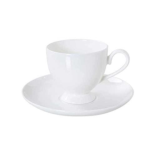 ZHANGCHI Taza de café y platillo Set Elegante Taza de té de Porcelana de Estilo Europa Elegante con platillo a Juego para el Desayuno.
