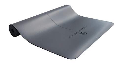 SHANTI NATION - Shanti Mat Pro XL - rutschfeste Yogamatte - extra groß - 195 x 68 x 0,4 cm - mit Naturkautschuk - auch für Pilates & Fitness - cool Grey