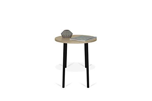 TemaHome, Ply 50 Couchtisch, 50x50x45 cm, Eiche/Schwarz