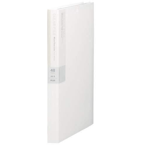 プラス デジャヴカラーズ クリアーファイル 溶着式 A4縦 48ポケット ピュアホワイト FC-148DP 【まとめ買い3冊セット】