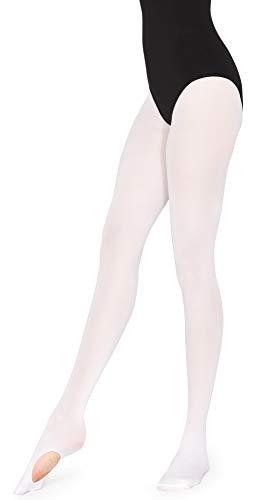 Merry Style Damen Tanzstrumpfhose MSFI021(Weiß,S)