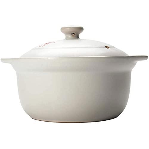 YIBOKANG Pote de cerámica, 3.3litters Pot Sour Soup Soup Pot/Clay Casserole, adecuado para 2 a 6 personas, para productos horneados, guisos, pasteles, mariscos Bisque