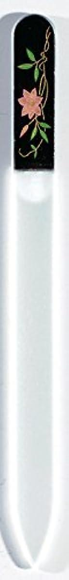 グラフィック虚弱防止蒔絵 ブラジェク製 爪ヤスリ 六月 鉄仙 紀州漆器