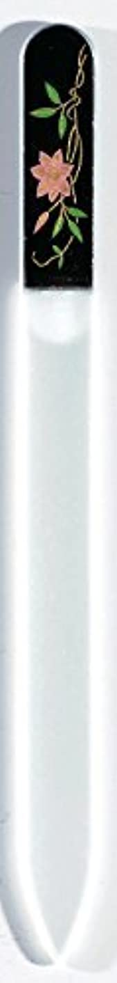 サラミアサートキモい蒔絵 ブラジェク製 爪ヤスリ 六月 鉄仙 紀州漆器