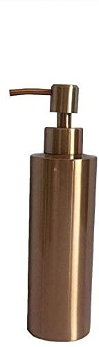 Dispensador de jabón Botella de jabón hecha a mano de acero inoxidable 304 Encimera Productos para el hogar de oro rosa Dispensador de loción Dispensador de jabón de 350 ml Dispensadores de jabón