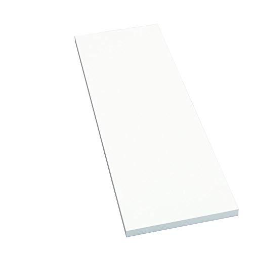 Möbelbauplatte Regalbrett Weiß 2000 x 200 x 16 mm, 3 Seiten umleimt
