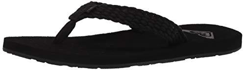 Roxy Women#039s Porto Sandal Flip Flop Black 20 11 M US