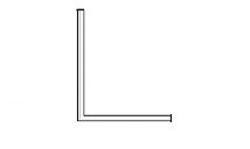 Universal Winkel-Plexiglas-Profil 2000 mm lang, 10x10x2 mm