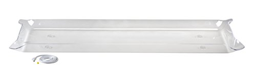 """Glo-Ice - Large Clear Tray. 67.375"""" x 23.75"""" - Side Drain"""