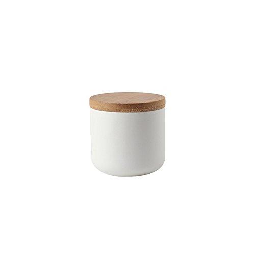 OnePine Vorratsdosen Keramik mit Bambusdeckel Vorratsdose Kaffeedose Teedose - 260ml/9 oz Keramik Aufbewahrungsdosen für Tee Kaffee Bohne Zucker Gewürz Nüsse Korn