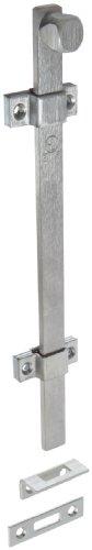 """Rockwood 580-12.26D Surface Bolt, UL Listed, 12"""" Length, Brass Satin Chrome Plated Finish"""