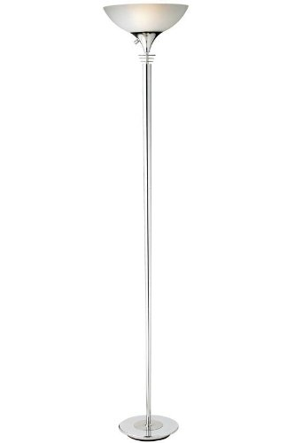 Adesso 5120-22 Metropolis 71.5 in. Floor Lamp - Chrome Finish Lighting Fixture, Adjustable Height, Smart Outlet Compatible. Freestanding Lamps