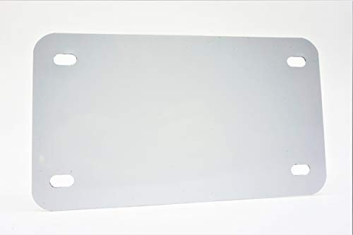 White - Motorcycle Anodized Aluminum License Plate Blank - 0.025/0.5mm - 4x7