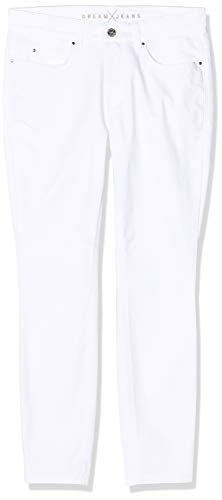 MAC Jeans Damen Dream Skinny Jeans, Weiß (White Denim D010), W40/L26