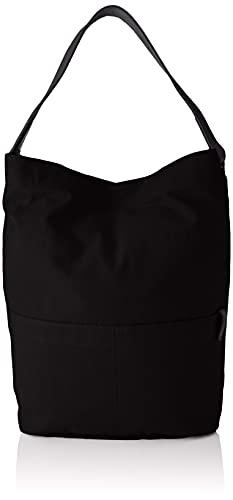ESPRIT Hobo-Tasche aus Canvas und Leder