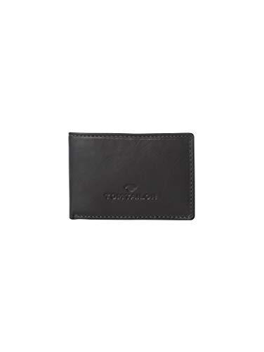 TOM TAILOR Herren Taschen & Geldbörsen Portemonnaie aus Leder schwarz/Black,OneSize