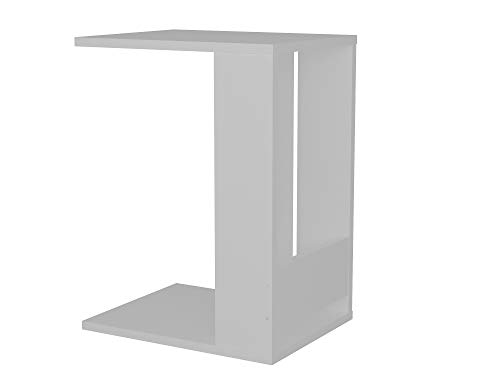 Alphamoebel Side Tables, wood materials, White, 34.8 x 45 x 67,2 cm