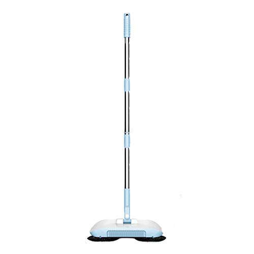 ErYao Rotating Cleaning Sweeper, Household Cleaning 360 Hand Push Automatic Sweeper Broom - 360 Degree Rotating Cleaning Sweeper Tool for Tile,Marble, and Hardwood (Blue)