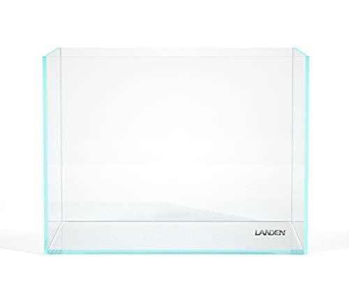 "Landen 60H 30 Gallon Rimless Low Iron Aquarium Tank, 23.6"" L × 17.7"" W × 17.7"" H (60cm x 45cm x 45cm) 8mm Thickness with Black Nano Foam Leveling mat Included 111006"