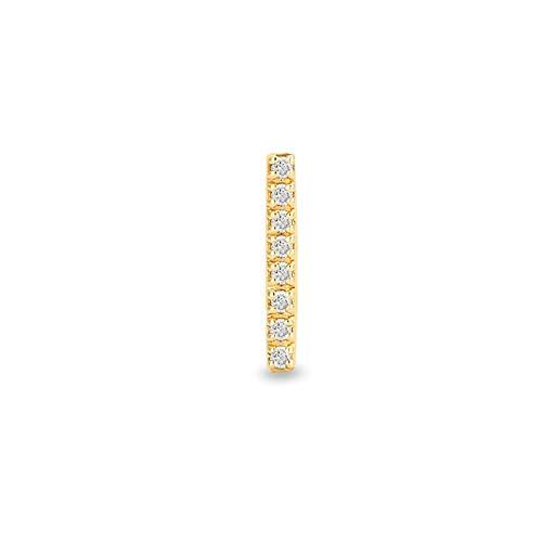 GELIN 14 Karat 585 Gelb Gold Piercing Ohrstecker, CZ Bar Stab Piercing Schmuck für Damen