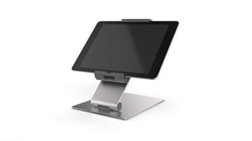 Durable 893023 Tablet Tischhalterung (für Tablets 7-13 Zoll, 360° drehbar mit Diebstahlsicherung) silber/anthrazit
