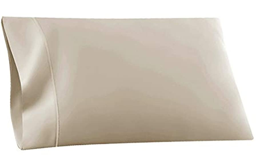 驚くばかり低い変位R.T. Home - エジプト高級超長綿ホテル品質 枕カバー 50×75CM(枕カバー 50 70兼用) 500スレッドカウント サテン織り クリーム ベージュ マクラカバー 封筒式 50*75CM