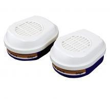 Bajonett-Filter für Halbmaske Atemschutzmaske I 1 Set (2 Stück) I Kombinationsfilter A2P3 R D für den Gebrauch mit der Halbmaske I Bajonettverschluss für ein einfaches und sicheres Einsetzen