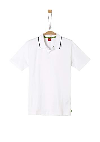 s.Oliver Junior Jungen 402.10.005.13.130.2038361 Polohemd, 0100 White, M/REG