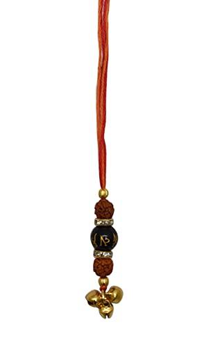 Kalagiri Rakhi/Pulsera para Hermano Reiki Piedra curativa Rudraksha, Turmalina Negra Raksha Bandhan y Bhaiya Dooj Diseñador Rakhi