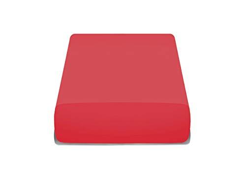 BIANCHERIAWEB Copriseduta Genius in Tinta Unita Chaise Longue Rosso 1016