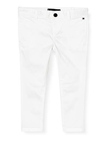 Tommy Hilfiger Essential TH Flex Skinny Chinos Pantaloni, Bianco, 92 cm Bambino
