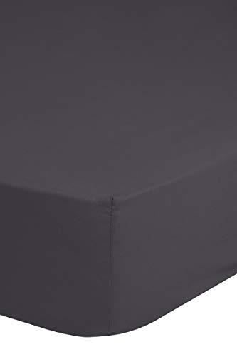 Goede morning! Hoeslaken uni 180 x 200 cm antraciet