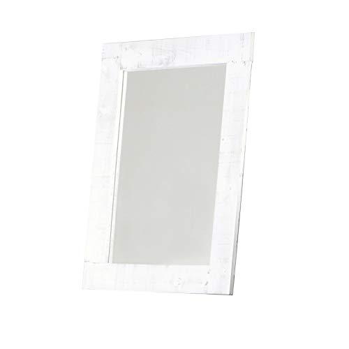 BANAK IMPORTA Nordic - Espejo de Madera (65 x 85 cm), Color Blanco