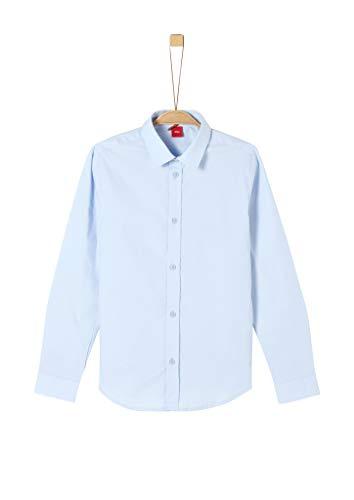 s.Oliver Jungen 62.911.21.8850 Hemd, Blau (Light Blue 5075), 176 (Herstellergröße: XL/SLIM)