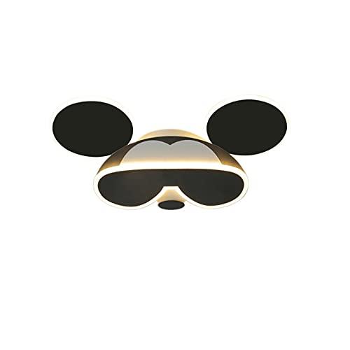 Lámpara De Techo Para Habitación Infantil Plafón Led De Techo Niñas Cuarto Dormitorio Luces Niños Los 45Cm-24W Luz Calida Lámparas De Mickey Mouse En Blanco Y Negro