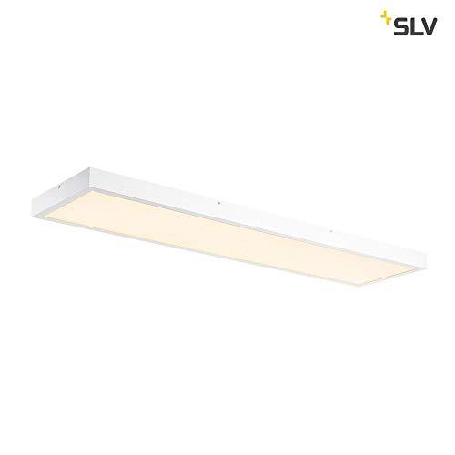 SLV PANEL 1200x300mm LED Indoor Deckenaufbauleuchte,3000K, weiß Leuchte Aluminium 45 W