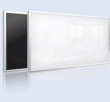 infranomic frame-line 500W Glas-Infrarotheizung, schwarz mit 10mm-Alurahmen, 90 x 60 cm