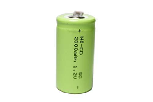 正規容量 国内から発送 22.5x43mm Ni-Cd Sub-C SC ニカド ニッカド ミニ単2 サプC セル ラジコン 電動RC ドライバー ドリル 工具 掃除機 充電池 バッテリー